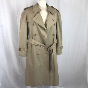 Vintage Burberry Plaid Camel Canvas Trench coat